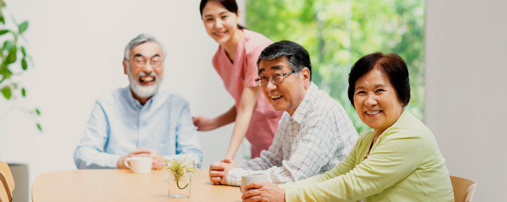 60歳からの安心入居者様が心身ともに健やかに